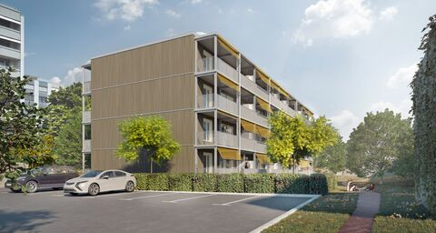 The fastest multi-family house build in Switzerland is underway in Lenzburg – made of wood