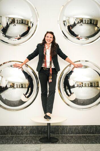 Tina Büchel è consulente clientela di AXA.
